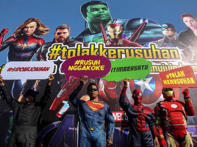 'Batman, Superman, Spiderman dan Iron Man' Deklarasi Tolak Kerusuhan