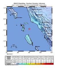Penjelasan BMKG soal Gempa M 5 di Pasaman Barat