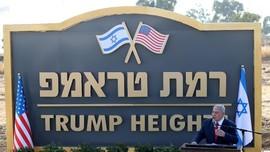 PM Israel Resmikan 'Dataran Tinggi Trump' di Golan