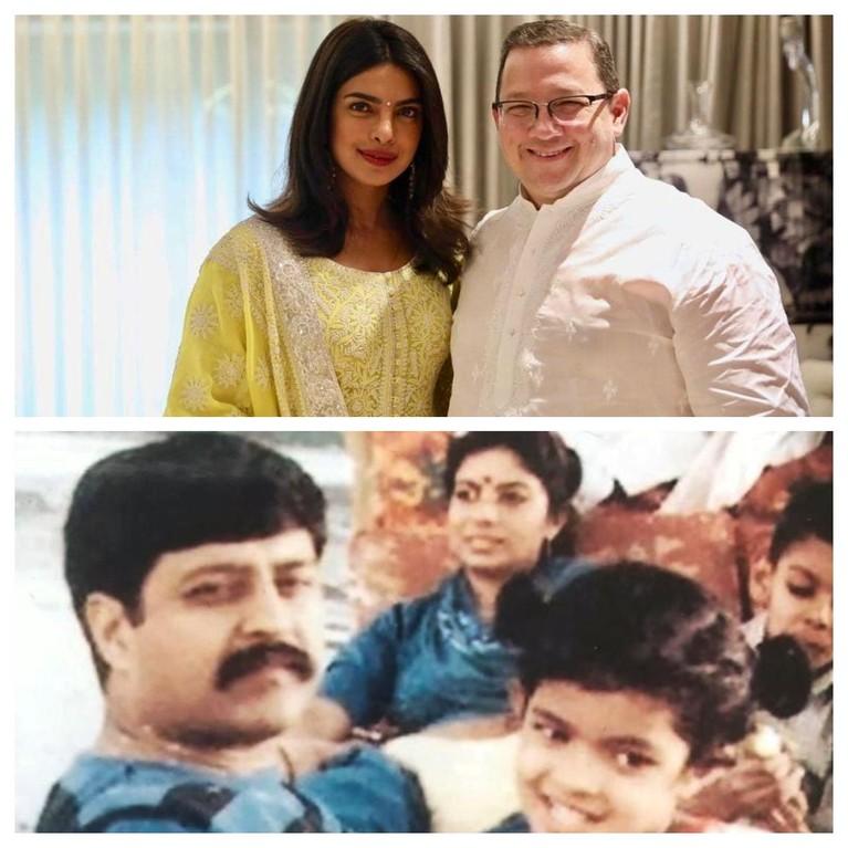 Priyanka Chopra,merayakan hari ayah sedunia, istri dari Nick Jonas juga turut merayakannya dengan menuliskan caption,