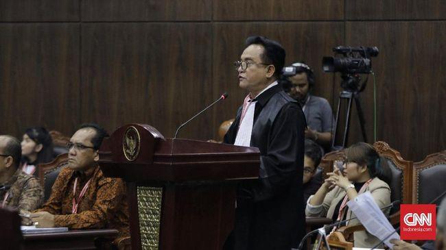 Yusril menyindir saksi yang dihadirkan kuasa hukum Prabowo-Sandi tidak bisa membuktikan dakwaannya soal kecurangan pilpres 2019 yang TSM.