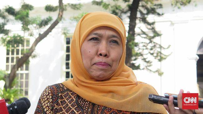 Khofifah Indar Parawansa menyebut dana Rp1,05 triliun dialokasi untuk pembangunan tanggul kali Lamong yang luapannya kerap membanjiri Lamongan-Mojokerto.