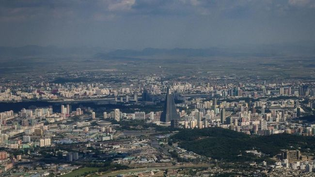 A photo taken on June 15, 2019 shows a general view of Pyongyang. (Photo by Ed JONES / AFP)