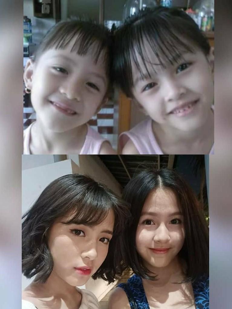 Sang ibunda, Sofia Saladin, mengunggah foto kedua anaknya saat melakukan '10 years challenge'. Zara dan Kyla sudah imut dari kecil ya Insertizen.