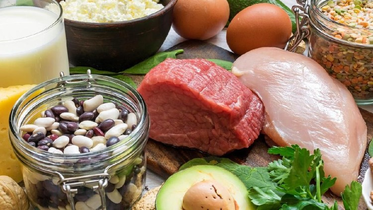 Natural products rich in vitamin B6 and protein. Healthy diet concept for weight loss. close up