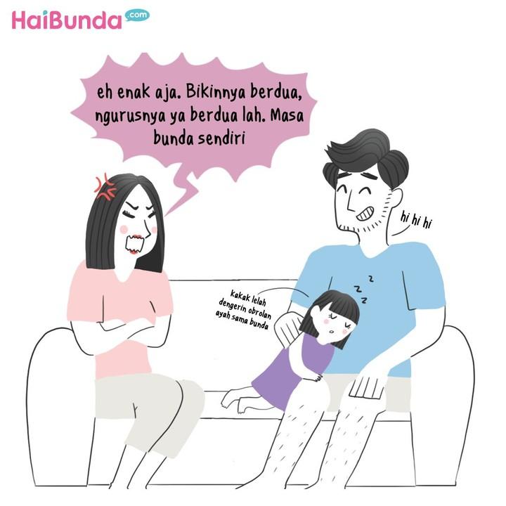 Bunda di rumah punya pengalaman apa terkait daftar sekolah anak? Samakah dengan Bunda di komik ini?