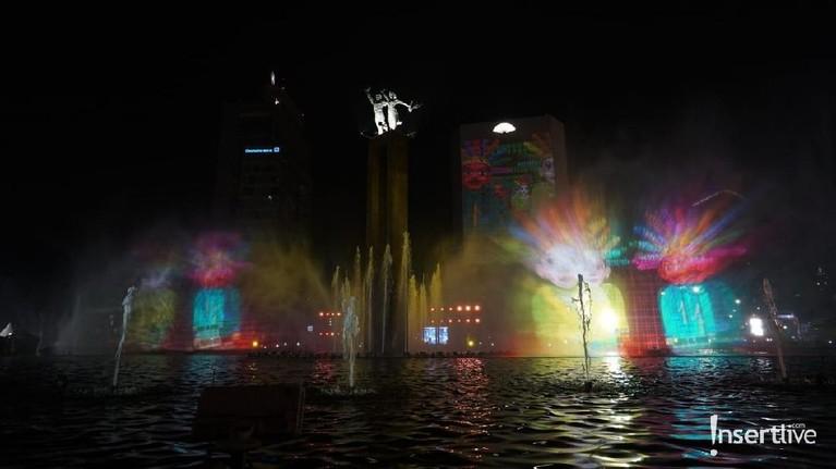 Pesta perayaan HUT DKI Jakarta yang ke-492 digelar di Bundaran HI.