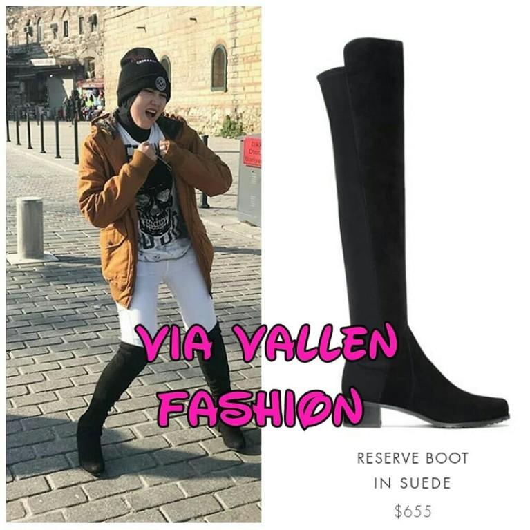 Meski sering tampil sederhana, Via Vallen juga punya kok barang mewah yang ia pakai dalam keseharian maupun saat liburan. Salah satunya adalah high boots ini yang berharga Rp9 juta.