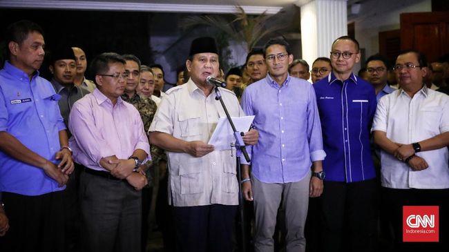 Prabowo Subianto akan melakukan pertemuan dengan seluruh partai Koalisi Adil dan Makmur untuk menjelaskan soal pertemuannya dengan Jokowi di MRT.