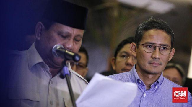 Sandi menyebut pemerintahan Jokowi-Ma'ruf membutuhkan pengawasan dalam menjalankan tugasnya. Dia menyatakan bersedia jadi oposisi.