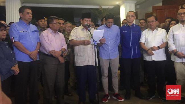 Prabowo menyatakan menghormati putusan MK yang menolak gugatannya dalam sengketa hasil Pilpres, tetapi dia menegaskan masih akan mencari langkah hukum lain.