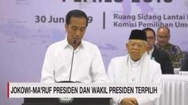 VIDEO: Jokowi-Ma'ruf Presiden & Wapres Terpiliih 2019-2024