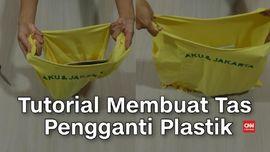 VIDEO: Tutorial Membuat Tas Pengganti Plastik dari Kaos Bekas