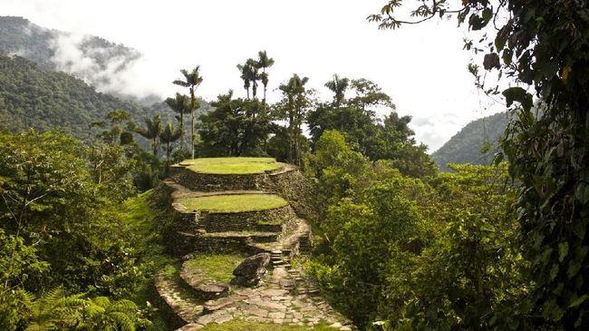 Ciudad Perdida terletak di pedalaman hutan kawasan pegunungan Sierra Nevada de Santa Marta.