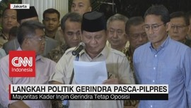 VIDEO: Mayoritas Kader Ingin Gerindra Tetap Oposisi