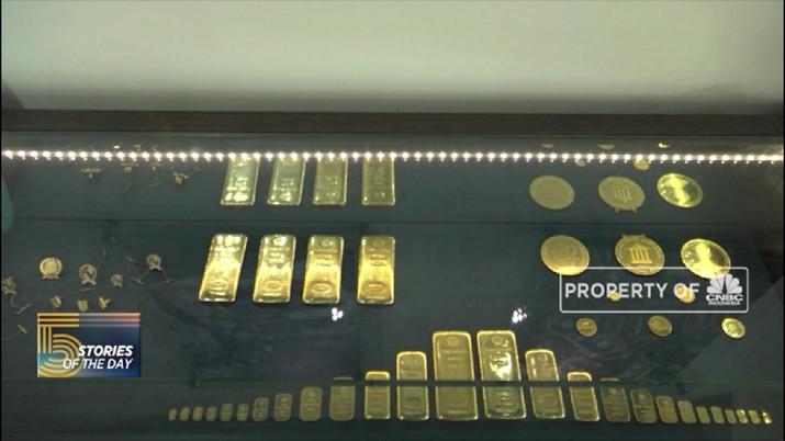 Rehat Sejenak, Emas Dunia Hari Ini Turun Jadi Rp 638.553/gram - Rifanfinancindo