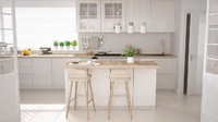 <p>Interior bergaya Skandinavia rupanya masih banyak disukai, termasuk untuk dapur.Jika mengusung konsep Skandinavia,<em>kitchen island</em> yang digunakan pun minimalis dan biasanya memadukan warna putih dengan kayu berwarna cokelat muda. (Foto: iStock)</p>