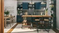 <p>Ingin dapur berkonsep industrial, Bun? Tambahkan saja <em>kitchen island</em> dengan bahan baja ringan dan <em>countertop</em> berbahan kayu. (Foto: iStock)</p>