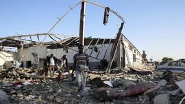 FOTO: Tumpah Darah Imigran Jadi Korban Serangan di Libya