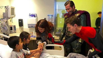 Sweet! Kejutan Bintang Spider-Man untuk Anak-anak di Rumah Sakit