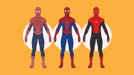 INFOGRAFIS: Beda 'Spider-Man', Beda Kostum