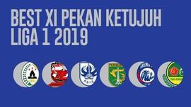 INFOGRAFIS: Best XI Pekan Ketujuh Liga 1 2019