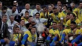 FOTO: Brasil Pesta Juara Copa America di Maracana