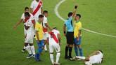 Striker Gabriel Jesus bintang timnas Brasil di final Copa America 2019 mengamuk usai dikartu merah saat Brasil menang 3-1 atas Peru di Stadion Maracana.
