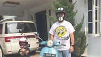 <p>Rifat Sungkar menghabiskan Minggu paginya dengan berkendara bersama anak keduanya, Mikkairo Riley Sungkar. (Foto: Instagram @rifato)</p>