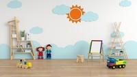 Suasana ruang main anak bisa terlihat cerah dan ceria jika ditambah dekorasi yang imut di tembok. (Foto: iStock)