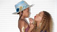 Meski sudah punya tiga anak, Beyonce enggak pernah pilih kasih dan mencintai semua anaknya, tak terkecuali si cantik Blue Ivy. (Foto: Instagram @beyonce)