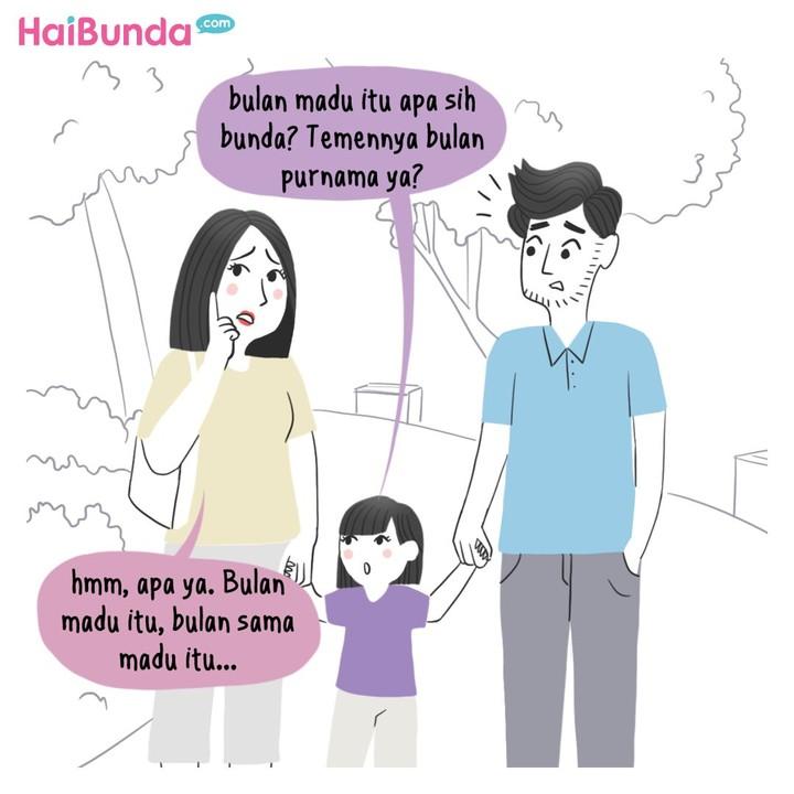 Beginilah cerita bulan madu Bunda dan Ayah di komik ini. Kalau cerita bulan madu Bunda gimana? Apa sih yang paling mengesankan? Share di kolom komentar ya.