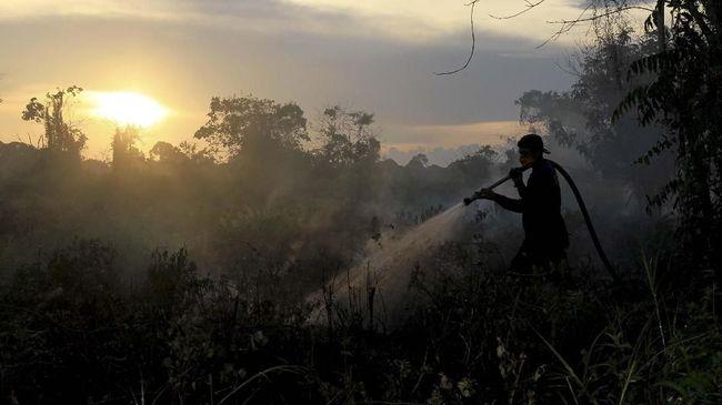 Kebakaran lahan gambut di tiga daerah Sumatra Selatan terjadi pada Sabtu dan Minggu lalu. Lahan gambut di tiga desa terbakar selama 32 jam.