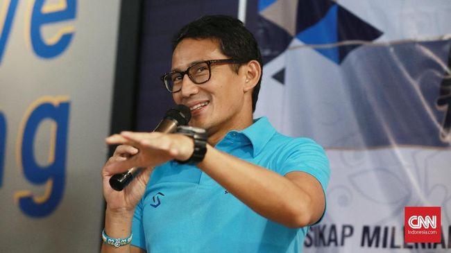 Sandiaga Uno berharap Ahmad Riza Patria segera membantu Anies Baswedan mengatasi corona di Jakarta setelah dilantik jadi Wagub DKI.