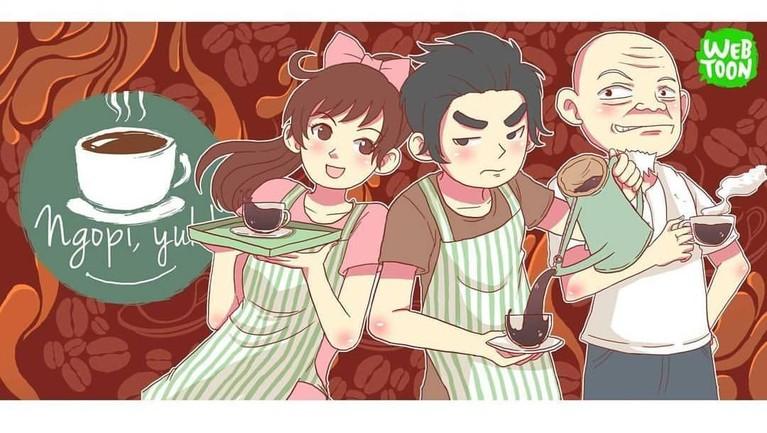 Ngopi, yuk! (9,81). Komik ini memiliki jalan cerita tentang kebiasaan kehidupan orang Indonesia. Selain menghibur, Ngopi, yuk! juga memberikan edukasi bagi para pembacanya.