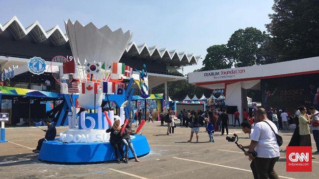 Suasana hari pertama Indonesia Open 2019 di Istora Senayan (16/7).