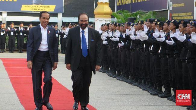 Ketua Umum NasDem, Surya Paloh menyebut pihaknya tak pernah ragu dalam berbuat dan memberikan stempel NasDem untuk Jokowi sebagai kader.