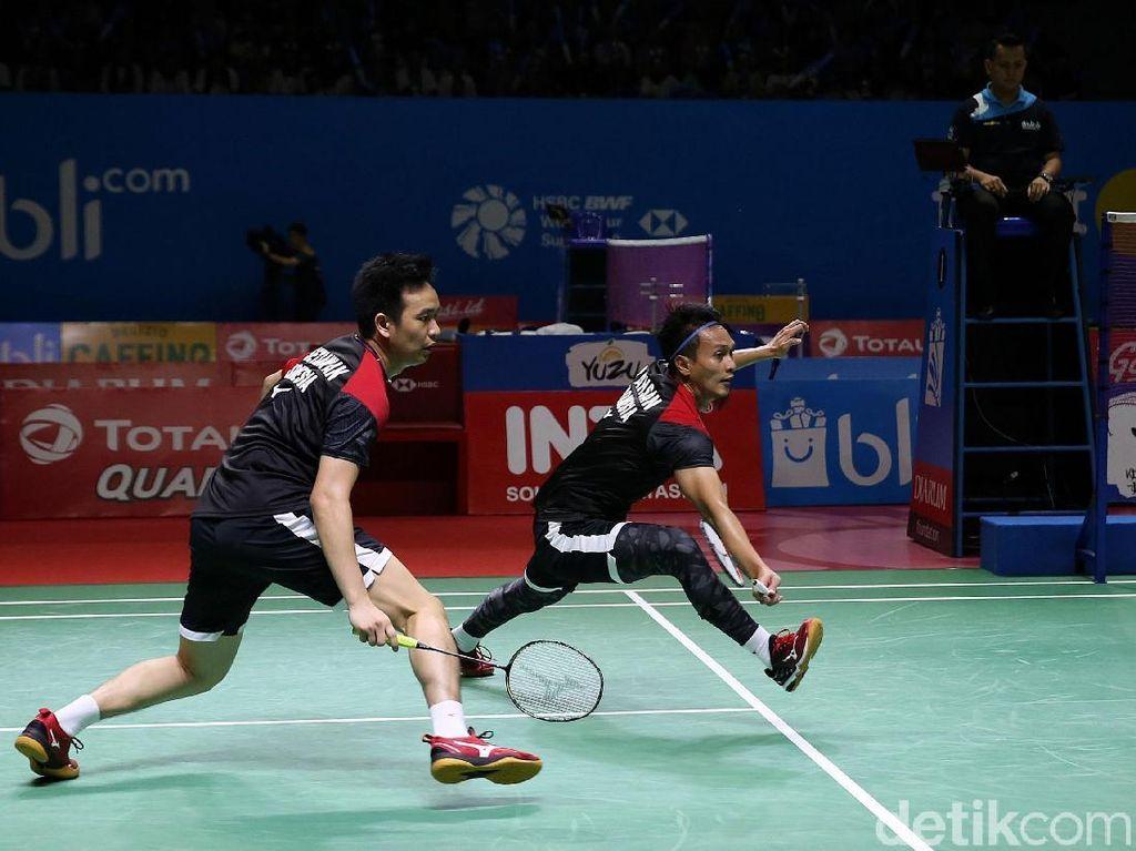 Kalahkan Wakil Jepang, Hendra/Ahsan ke Semifinal