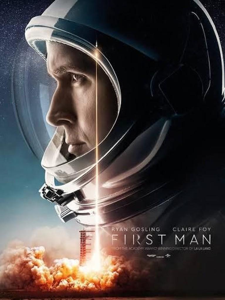First Man (2018). Dibintangi oleh Ryan Gosling, film ini mengisahkan tentang perjalanan astronot Neil Armstrong, melewati berbagai misi berbahaya hingga ia berhasil menjadi manusia pertama yang mendarat di bulan.