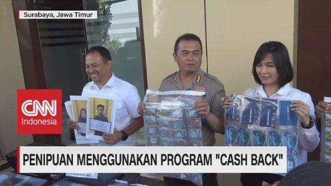 Video Polda Jatim Bekuk Sindikat Penipu Cashback