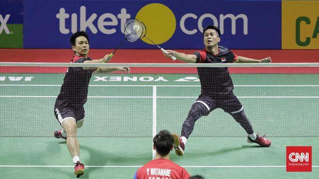 Ganda putra Indonesia Mohammad Ahsan/Hendra Setiawan gagal juara Hong Kong Open 2019 usai dikalahkan wakil Korea Selatan Choi Solgyu/Seo Seung Jae.