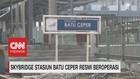 VIDEO: Skybridge Stasiun Batu Ceper Resmi Beroperasi