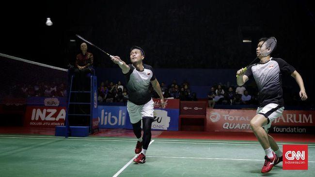 Mohammad Ahsan/Hendra Setiawan mengaku kelelahan menghadapi jadwal padat di turnamen internasional sehingga tersingkir di babak pertama Thailand Open 2019.