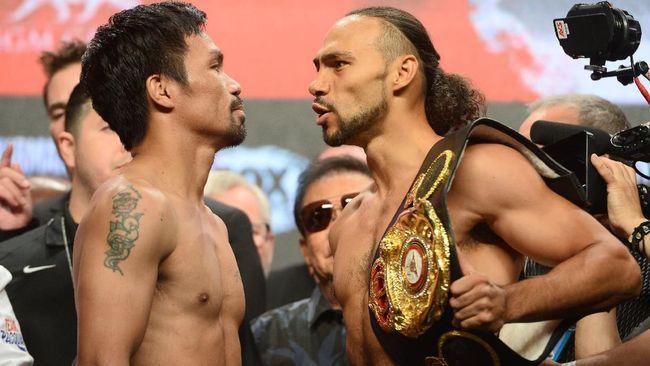 Manny Pacquiao sesumbar ingin mengajarkan Keith Thurman layaknya guru dan murid pada pertarungan tinju gelar welter WBA Super.