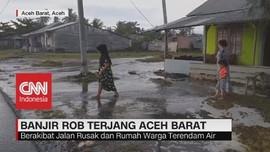 VIDEO: Banjir Rob Terjang Aceh Barat