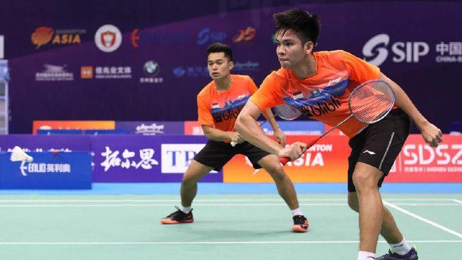Pasangan Indonesia, Leo Rolly Carnando/Daniel Marthin yang dijuluki The Babies gagal melaju ke semifinal Spain Master 2021.