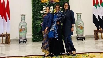 Sederhana, Momen Hangat Sri Mulyani Bersama Tiga Menteri Wanita