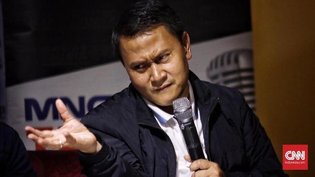 """Ketua DPP Partai Keadilan Sejahtera (PKS), Mardani Ali Sera di acara diskusi Polemik """"Utak Atik Manuver Elit"""", Jakarta, 27 Juli 2019"""