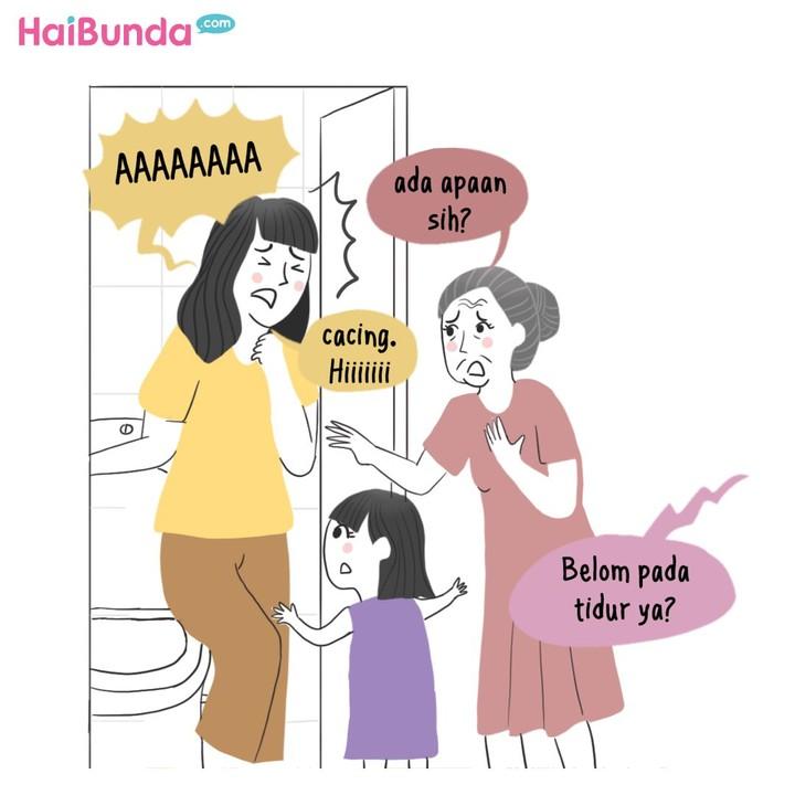 Gara-gara takut hantu, kehebohan terjadi di rumah Bunda di komik ini. Keluarga Bunda juga begitu? Pernah heboh karena takut hantu? Sharing ceritanya yuk.