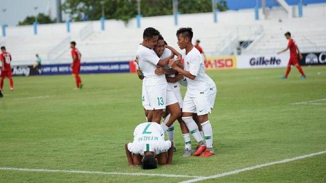 Timnas Indonesia U-16 berhasil unggul 1-0 atas Filipina pada babak pertama Kualifikasi Piala Asia 2020 di Stadion Madya, Senayan, Jakarta, Senin (16/9).